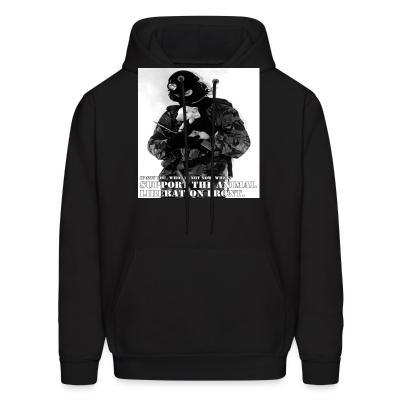 Hoodie Support the animal liberation front
