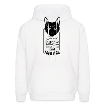 Hoodie The best therapist has fur and four legs