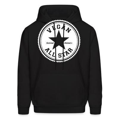 Hoodie Vegan all star. Defend animals