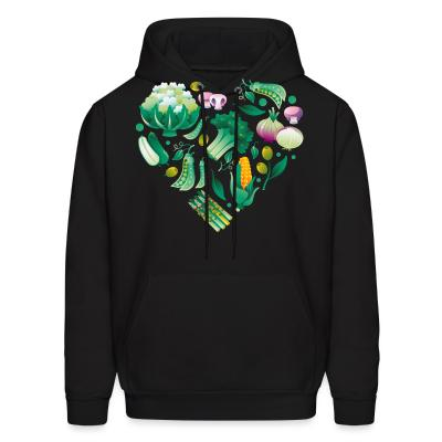 Hoodie Vegetable heart