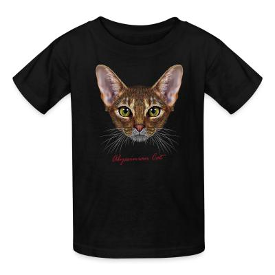 Kid tshirt Abyssinian cat