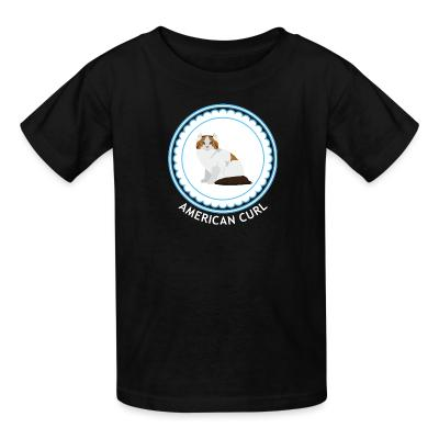 Kid tshirt American Curl Cat