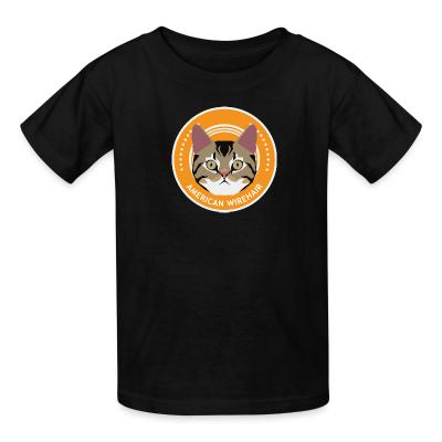 Kid tshirt American Wirehair Cat