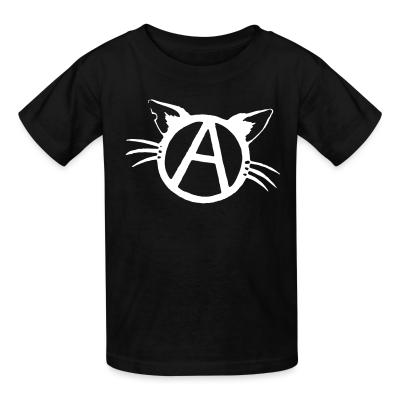 Kid tshirt Anarchy cat