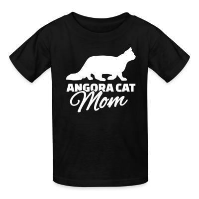 Kid tshirt Angora cat mom
