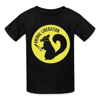 Kid tshirt Animal liberation
