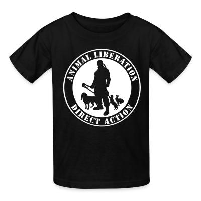 Kid tshirt Animal liberation direct action