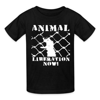 Kid tshirt Animal liberation now!