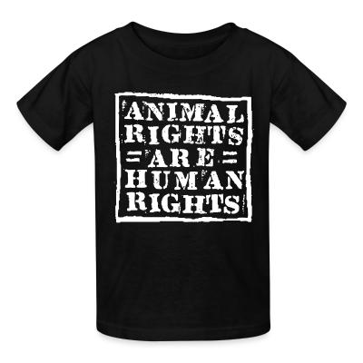 Kid tshirt Animal rights are human rights