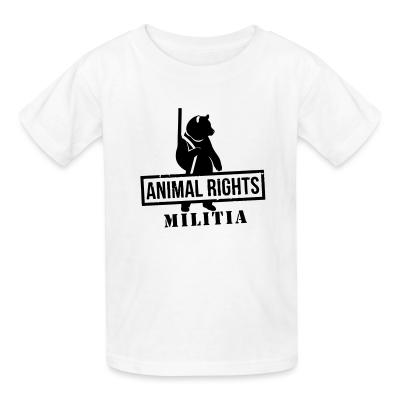 Kid tshirt Animal rights militia