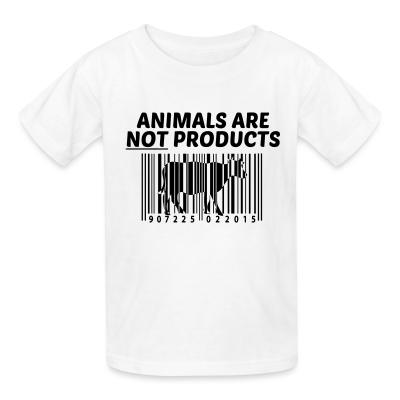 Kid tshirt Animals are not products