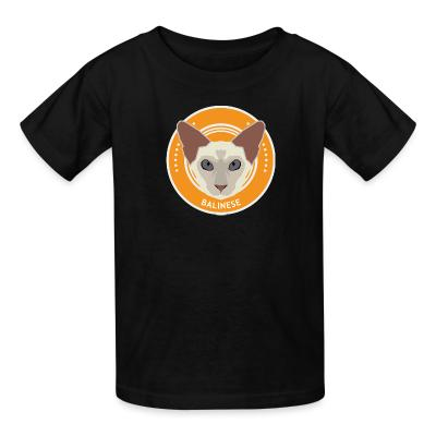 Kid tshirt Balinese Cat