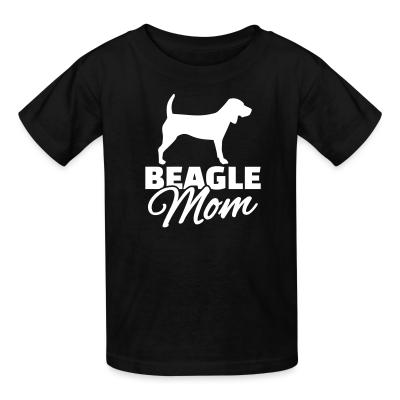 Kid tshirt Beagle mom