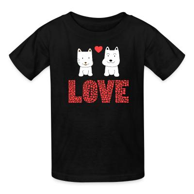 Kid tshirt Cat and Dog