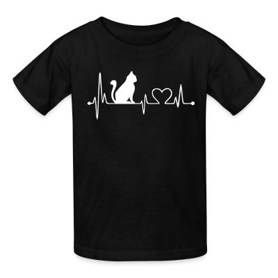 Kid tshirt Cat heartbeat