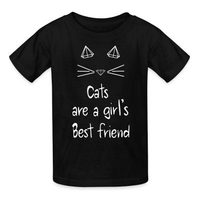 Kid tshirt Cats are a girl's best friend