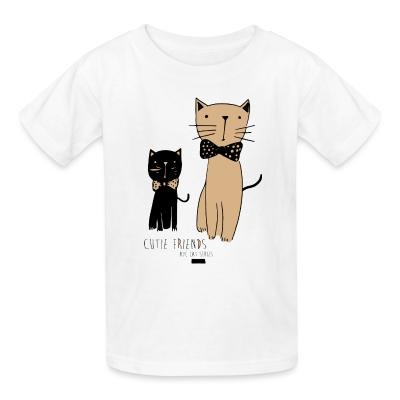 Kid tshirt Cutie friends nyc cat series
