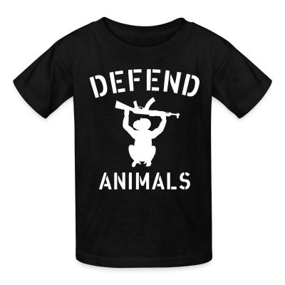 Kid tshirt Defend animals