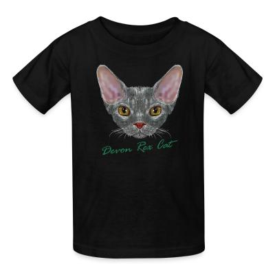 Kid tshirt Devon Rex Cat