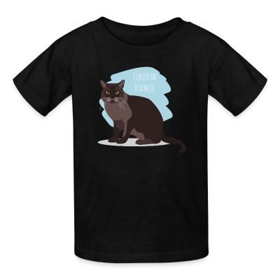 Kid tshirt European burmese