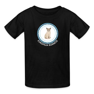 Kid tshirt European burmese cat
