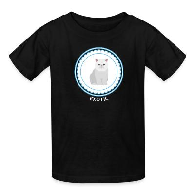 Kid tshirt Exotic Shorthair Cat
