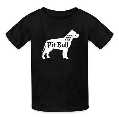Kid tshirt Faithful smart bold pitbull