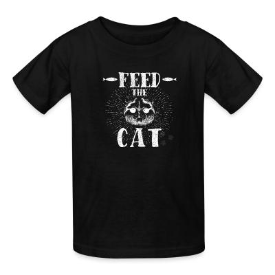 Kid tshirt feed the cat