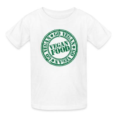 Kid tshirt go Vegan  Vegan  food