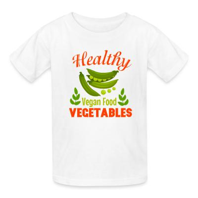 Kid tshirt Healthy vegetable vegan food