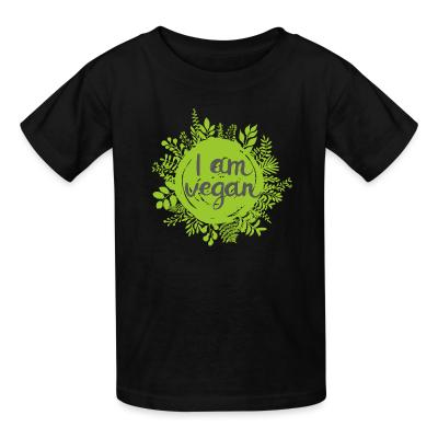 Kid tshirt I am vegan