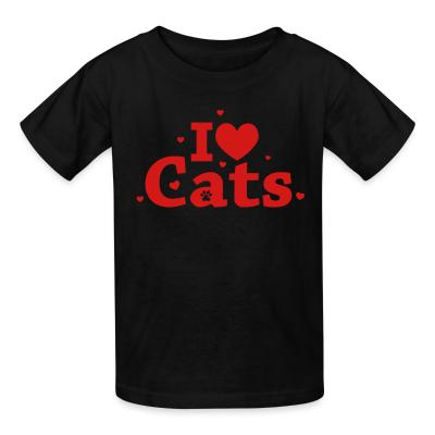 Kid tshirt I love cats