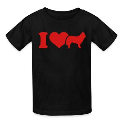 Kid tshirt I love Sheep Dogs