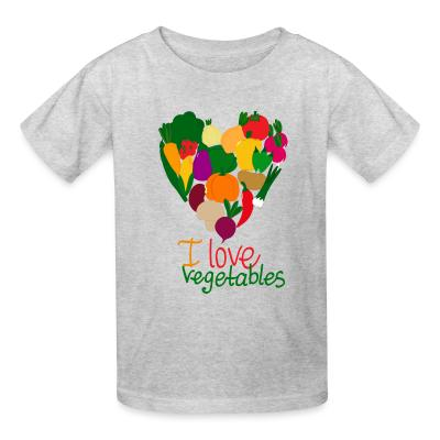 Kid tshirt I love vegetables