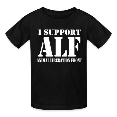 Kid tshirt I support ALF - Animal Liberation Front