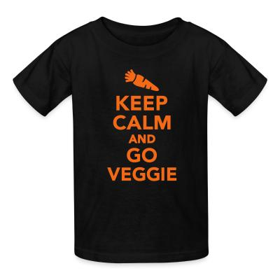 Kid tshirt keep calm and go veggie