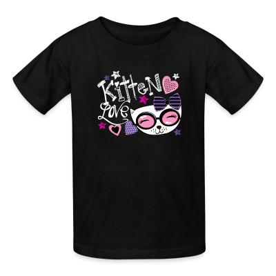 Kid tshirt Kitten love