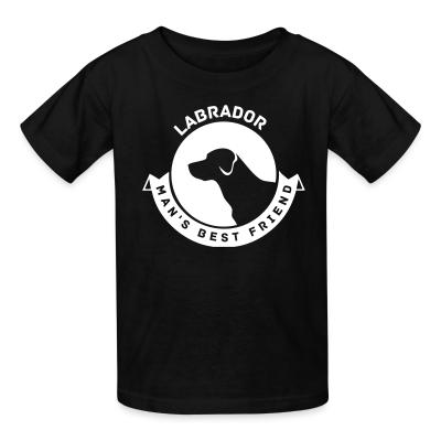 Kid tshirt Labrador man's best friend
