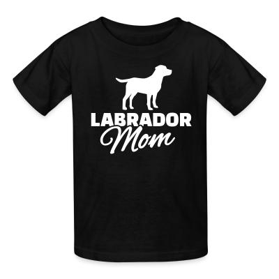 Kid tshirt Labrador mom