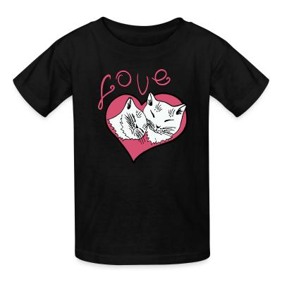Kid tshirt Love cat