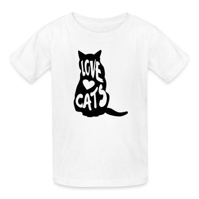Kid tshirt Love cats