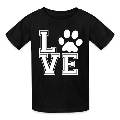 Kid tshirt love paw