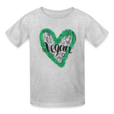 Kid tshirt Love Vegan