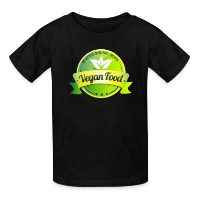 Kid tshirt Made with the best natural product from nature Vegan food