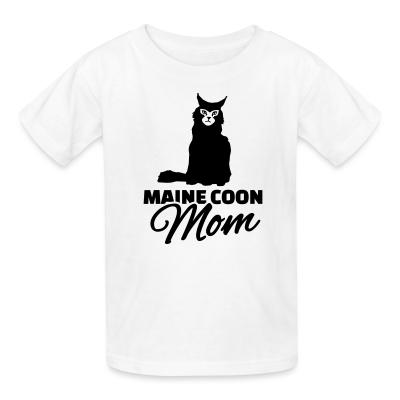 Kid tshirt Main coon mom