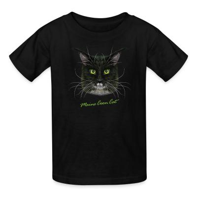 Kid tshirt Maine Coon Cat