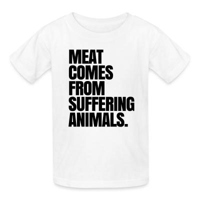 Kid tshirt Meat comes from suffering animals