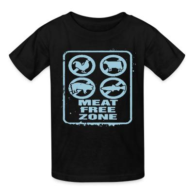 Kid tshirt Meat free zone