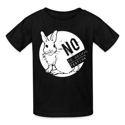 Kid tshirt No to animal testing