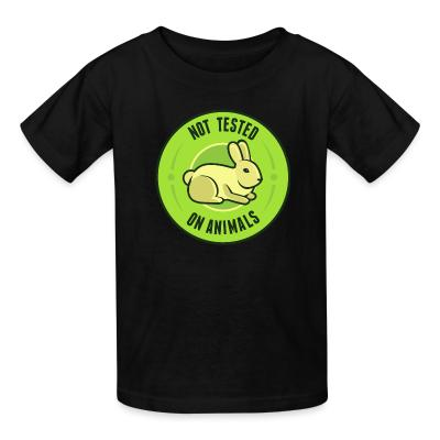 Kid tshirt Not tested on animals